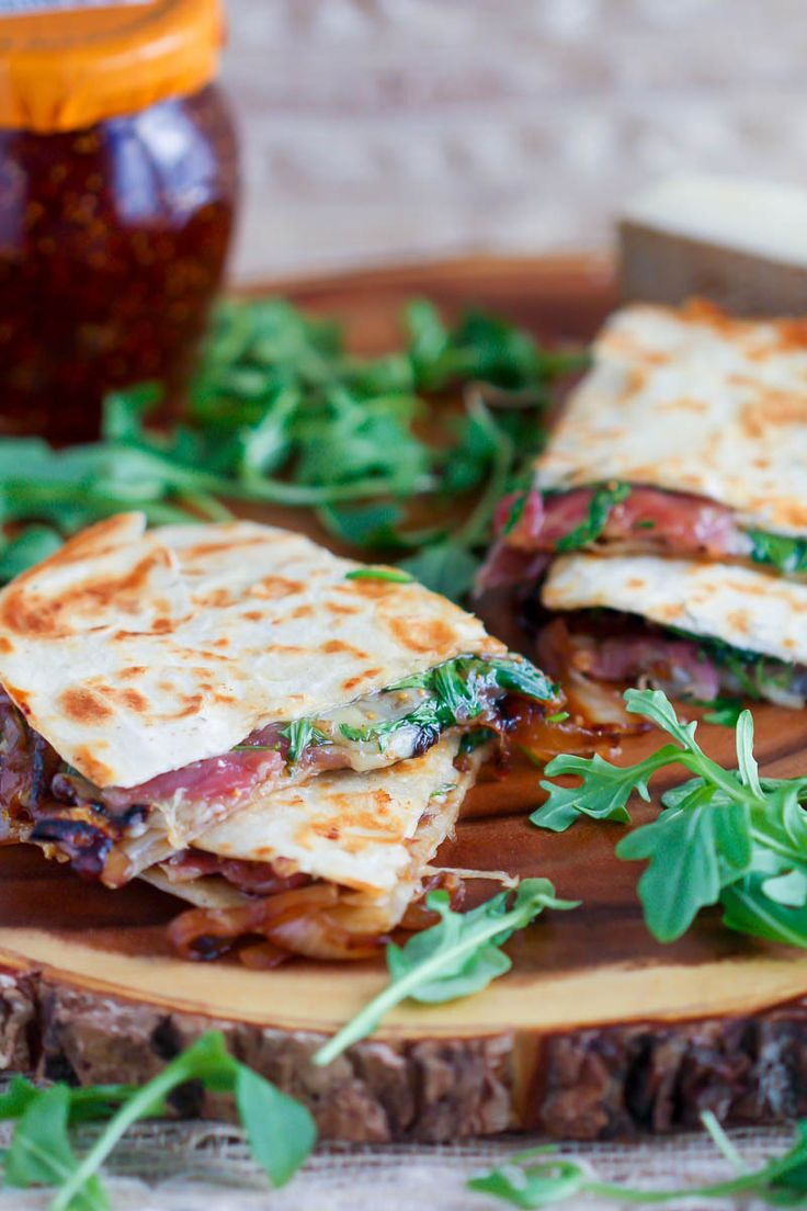 Caramelized Onion, Prosciutto and Fig Quesadilla - What should I make for...