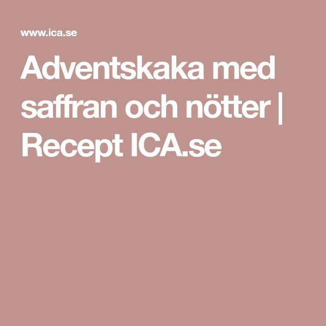 Adventskaka med saffran och nötter | Recept ICA.se