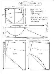 схема моделирования бикини ретро размер Sunquini тип P.