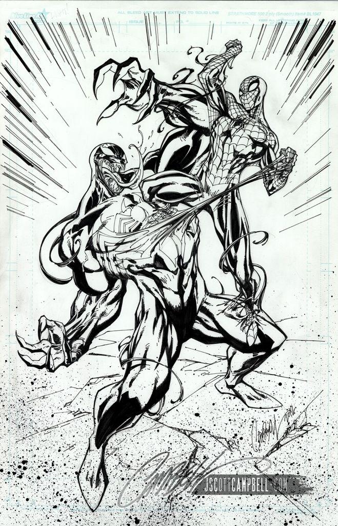 169 best images about amazing art of j scott campbell on pinterest j scott campbell - Coloriage venom ...