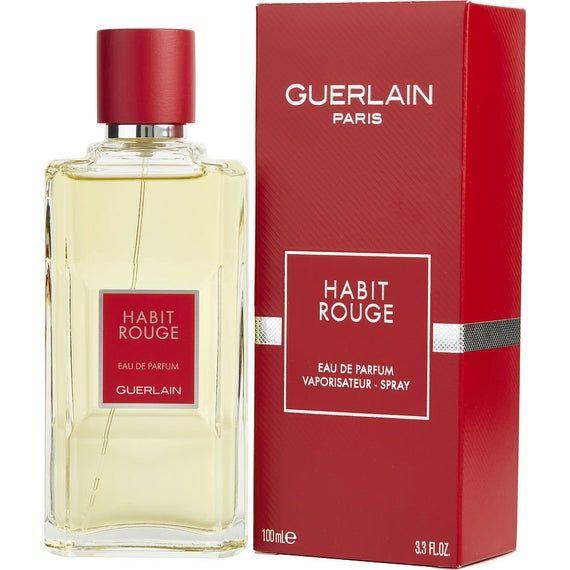 Guerlain Habit Rouge Eau De Parfum For Men 100ml Rare Etsy In 2021 Eau De Parfum Guerlain Perfume And Cologne