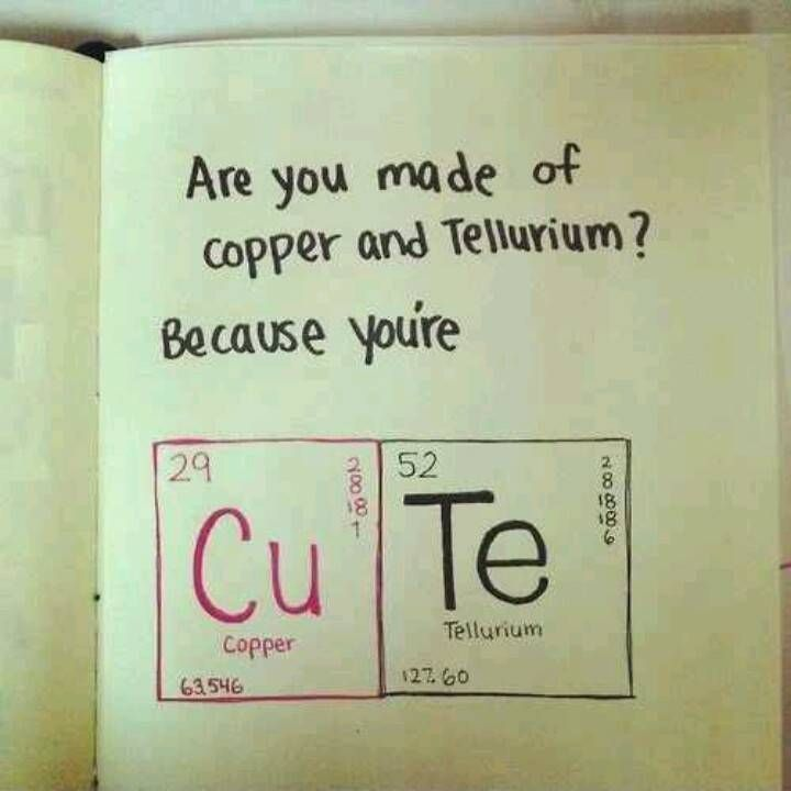 This Valentine card is perfect for the periodic table lover in your life.