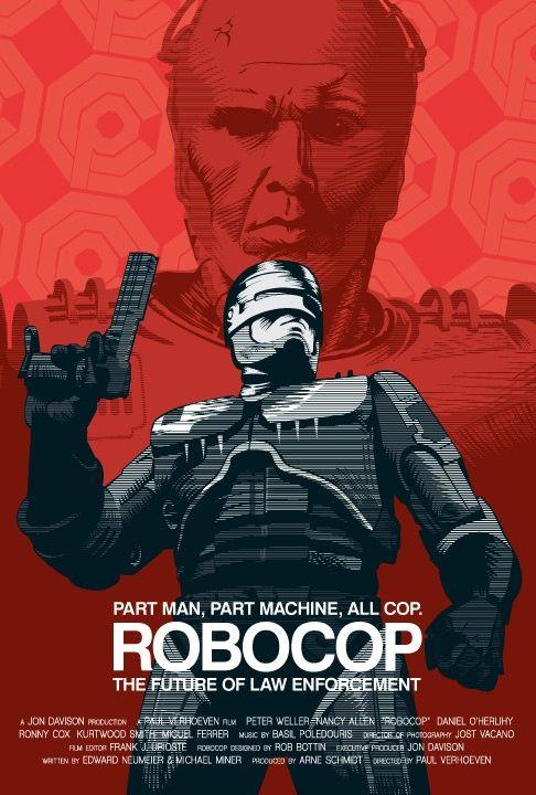 robocop: Posters Redesign, Minimalist Posters, Minimalist Movie Posters, Robocop Posters, Alternative Movie, Film Posters, Movies Games Geek, Movie Art, Movies 3