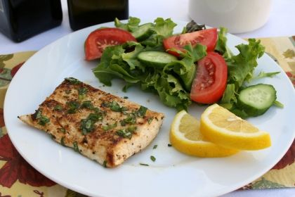 The Simple Skillet | Grilled Halibut with Lemon Butter Sauce