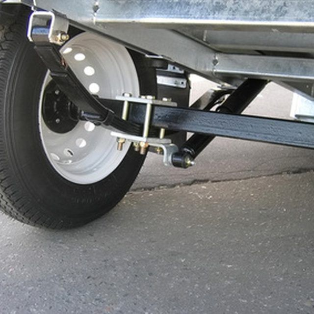 Replacing The Axle On A Trailer