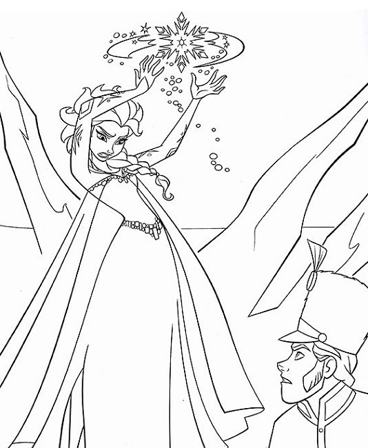 frozen coloring book page