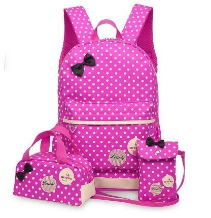 Cute Teenage Girls Backpacks Set