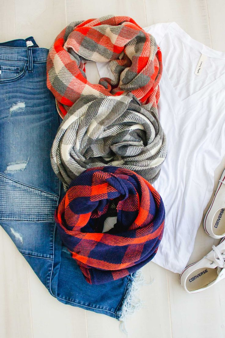 Plaid Infinity Scarf | 3 colors