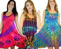 Wholesale Tie Dye Sleeveless Short Maxi Dress | https://jonsimports.com/