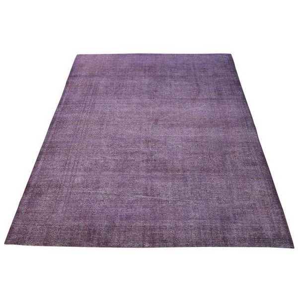 """Vintage Turkish Distressed Overdyed Purple Hand Knotted Rug - 13'2"""" X... ($2,745) ❤ liked on Polyvore featuring home, rugs, traditional handmade rugs, purple rug, hand made rugs, hand knotted rugs, wool rugs and hand knotted wool area rugs"""