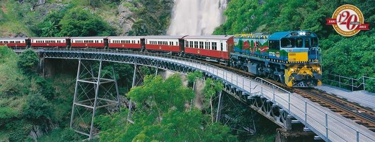 Kuranda scenic railway Queensland Australia.  Fun ride.