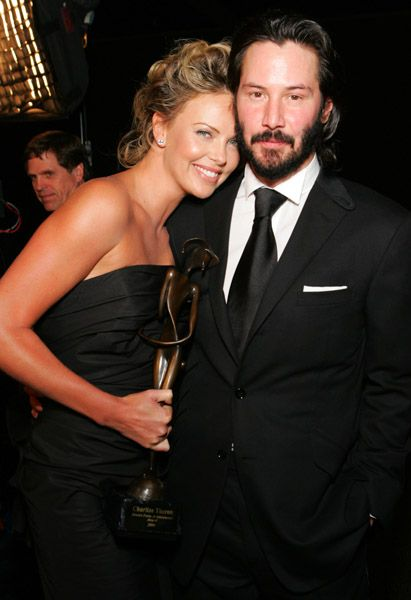 keanu reeves with charlize theron |