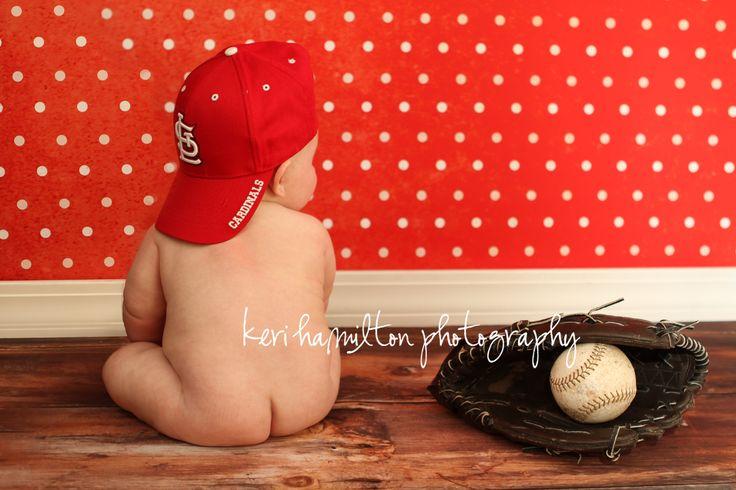 http://kerihamiltonphotography.com  http://www.facebook.com/kerihamiltonphotography #baby #cardinals #baseball