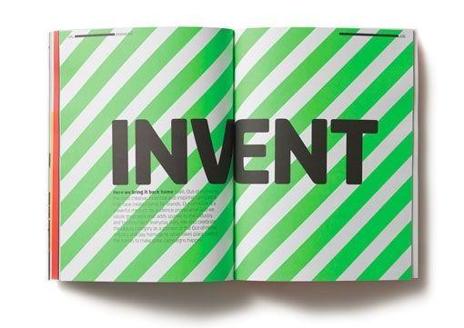 INVENT Publication Spread | Editorial Layout Print Design