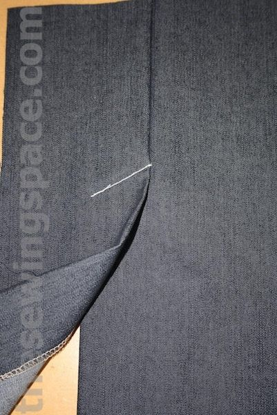 How to Sew Skirt Vent