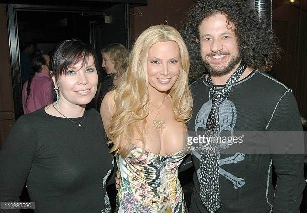 Cindy Margolis and Joe Reitman during Cindy Margolis Birthday Party October 9 2005 at Guys in Los Angeles California United States
