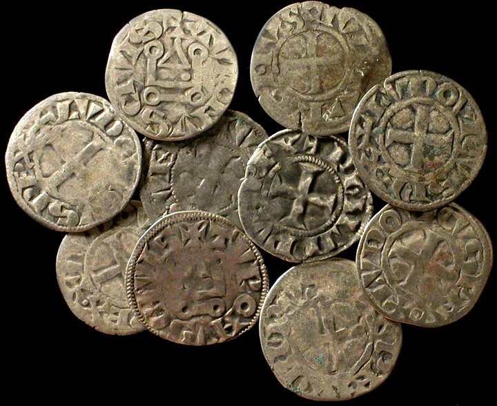 Currency used by the Knights Templar. In theory they would use currency as such to bribe officials to set up Templar Headquarters in their city or village.