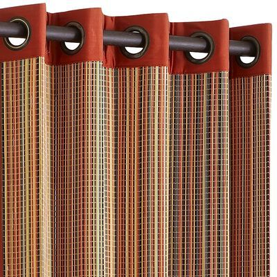 Bamboo Metallic Grommet Red 84 Quot Curtain Household Things