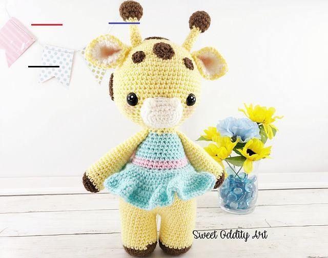 Giraffe Pattern - Crochet Giraffe Toy PDF Pattern - Crochet Animal ... | 505x640
