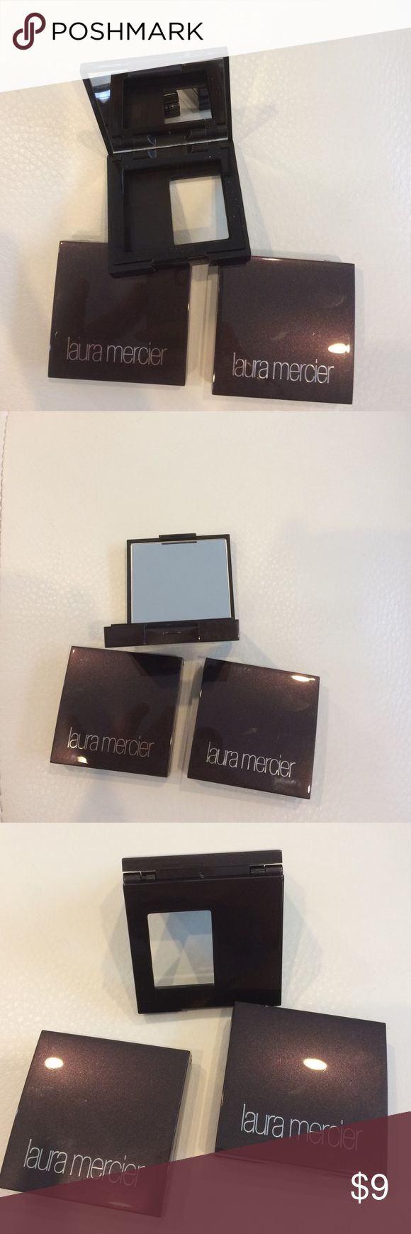 3 Laura Mercier eyeshadow compacts 3 Laura Mercier mirrored eyeshadow compacts. Laura Mercier Makeup
