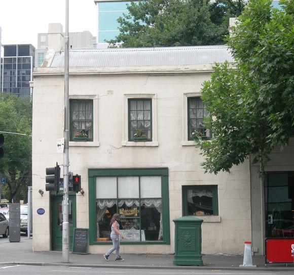 Melbourne's oldest former residence - gold rush cottage (1850), cnr King and La Trobe Streets