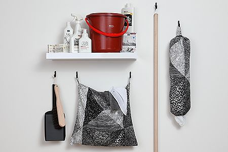 Seville Black Hook - Harvey's small plain Seville hooks aren't just for curtain tiebacks, they also make great space saving solutions for the laundry room!