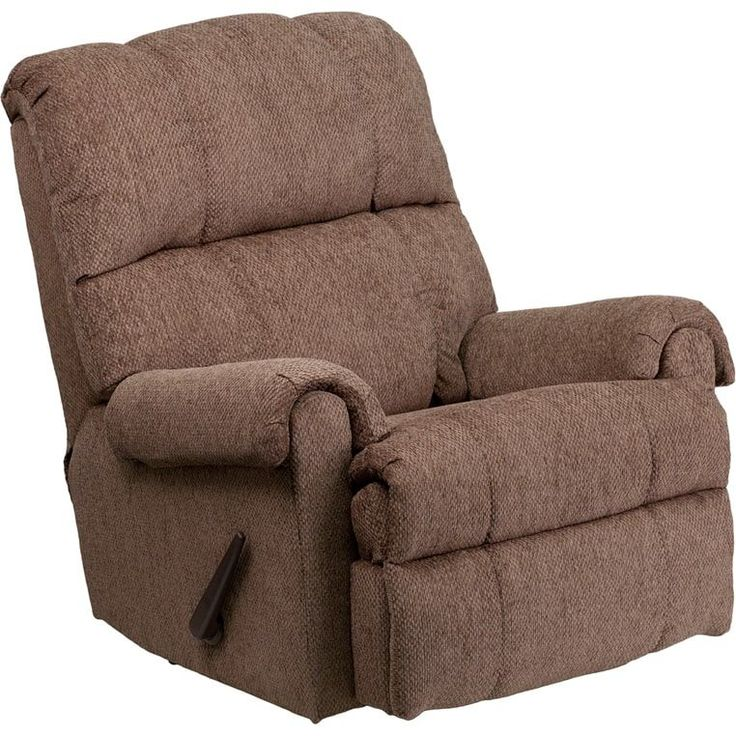 Flash Furniture Contemporary Tahoe Bark Chenille Rocker Recliner Chair