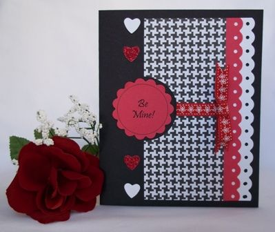 Valentines day crafts red black and white