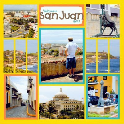"""""""Welcome to San Juan"""" - 100th Pattern! This page features New Sunshine Grid paper on snapncrop."""