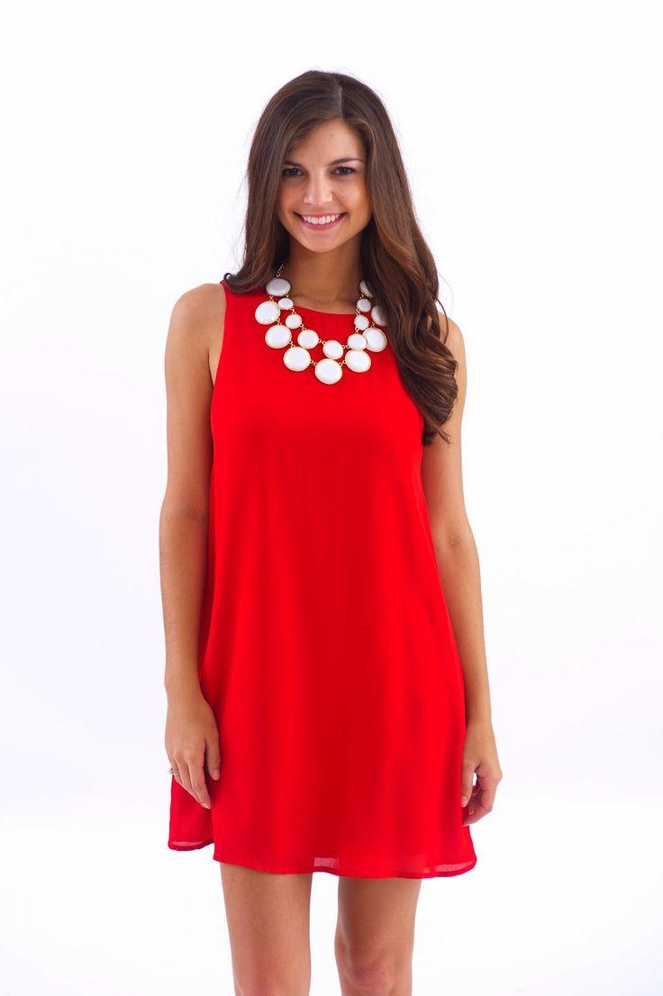 EVERLY: Quarterback's Crush Dress-Georgia Red - $48.00