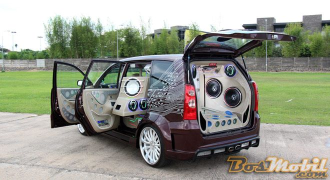 Toyota Avanza Modifikasi, Car Audio Attractive