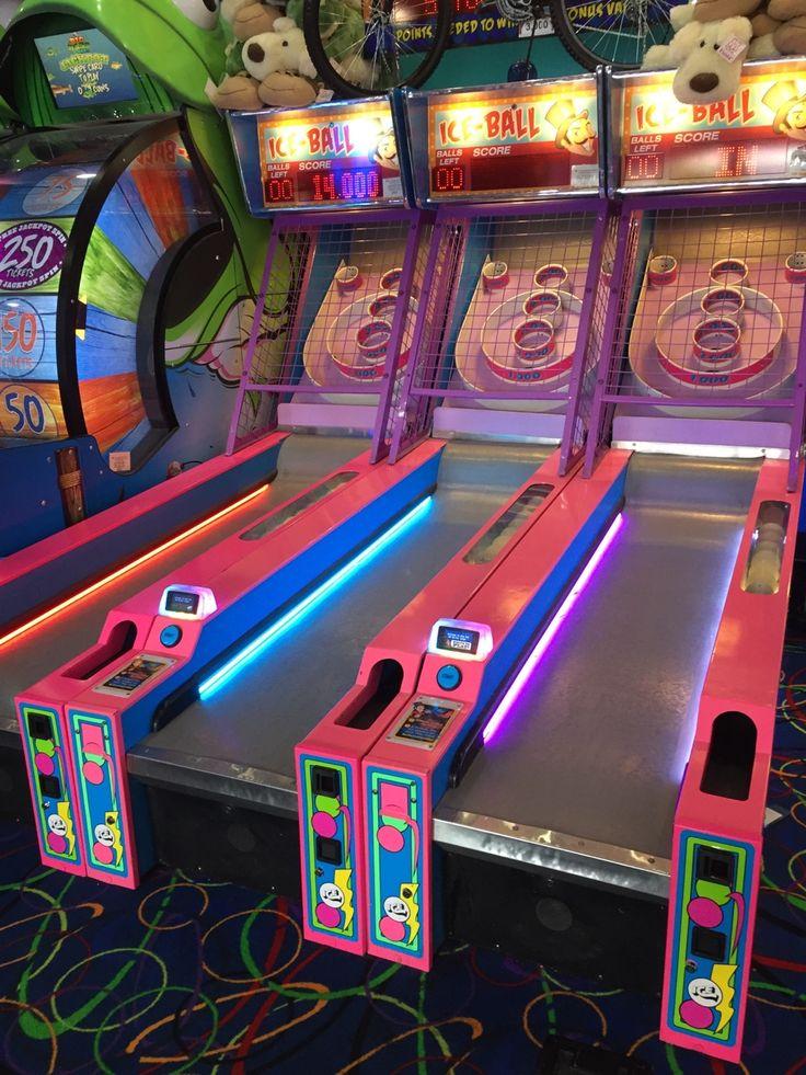 , skee ball @ big top arcade