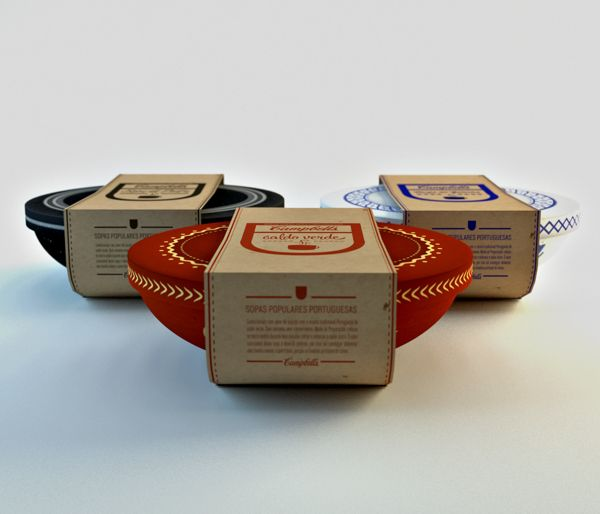 Campbell's Portuguese Soups Packaging by Jorge Martins, via Behance #packaging #design