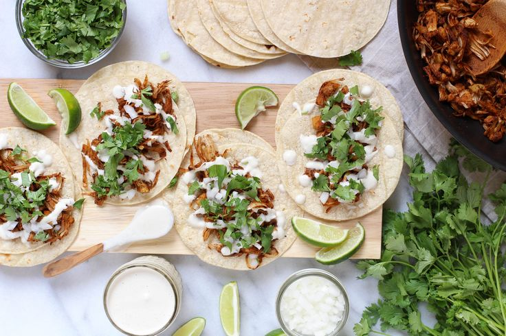Jackfruit street tacos so good you won't even know they're vegan! Get the recipe for these dairy and gluten-free tacos now!