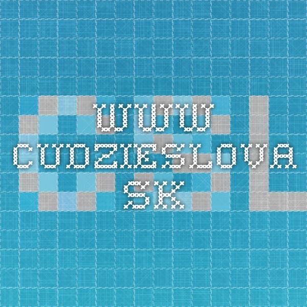www.cudzieslova.sk
