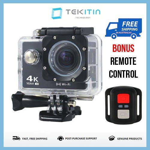 TEKcam 4K Waterproof WI-FI Sports Action Camera Cam   Gopro Go Pro Fit Mounts