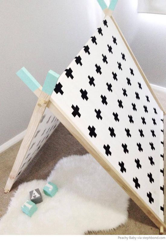 Bondville: Peachy Baby handmade a-frame tent cubbies