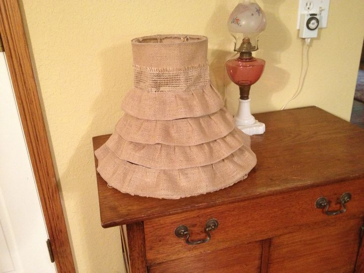 My version of a burlap lamp shade.