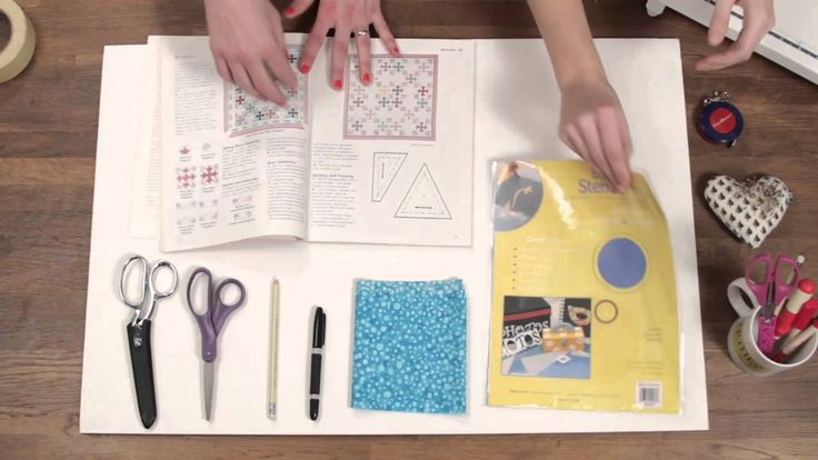scroll down and see the video tutorialhow to make your own quilt templates so