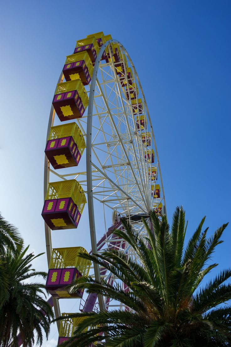 Ferris Summer (2017).  Summer on the waterfront is marked by the arrival of the ferris wheel. The wheel spends its winter on the banks of the Yarra in Melbourne.  Geelong, Vic. Australia. Words & Image: © Gary Light (9888, 2017). Creative Commons: (CC BY-NC-ND4.0).  #photography #nature #landscape #ferriswheel #beach #victoria #australia #walking #geelong