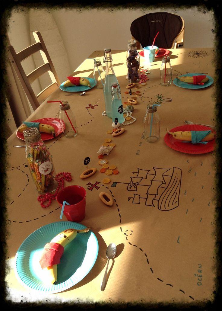 Piraten-Party Schatzkarten-Tischdecke aus Packpapi…