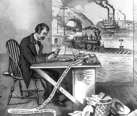 an essay on the morse telegraph Morse then developed the telegraph system that transmitted signals over wires to numerous locations and translated information this was a new means of communication that supported the commercial systems at the time.