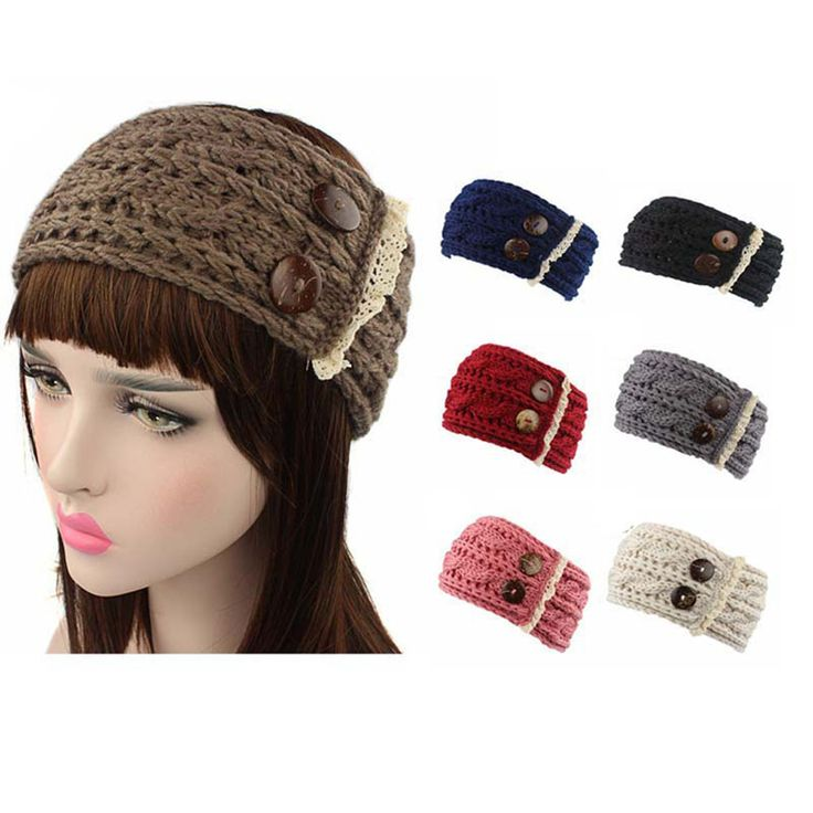 Headwear New Fashion Women Crochet Knitted Braided accessoire cheveux Knit Wool Hat Cap multifunctional Hair Band