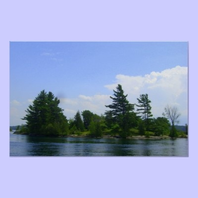A small Island in the Thousand Islands, near Brockville, Ontario, Canada