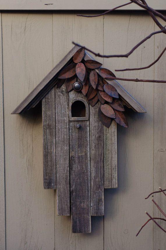 Rustikale Holz-Vogelhaus von BirdCreekMercantile auf Etsy
