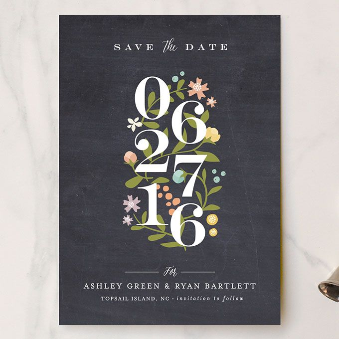 """Brides.com: 48 Save-the-Dates We Love """"Climbing Roses"""" luxe floral printed save-the-date, $158 for 100, Jennifer Wick for MintedPhoto: Courtesy of Minted"""