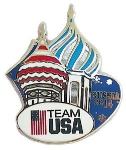 Team USA Winter Olympics 2014 Sochi Pin