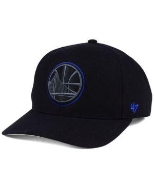 '47 Brand Golden State Warriors Darkness Mvp Cap - Black Adjustable