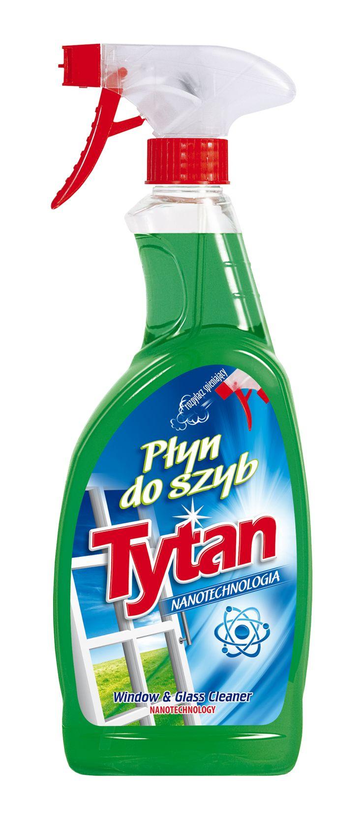 Płyn do mycia szyb Tytan nanotechnologia spray 750ml