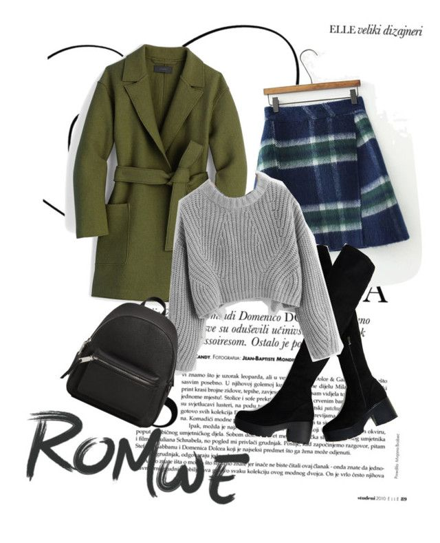 """""""School time with romwe.com"""" by clarisa-pop on Polyvore featuring J.Crew and MANGO"""